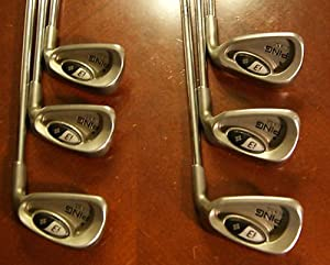 Amazon.com : Ping I3 + Blade set 5-PW IRONS Black Dot (Stiff Shafts) i 3 Irons Iron Set : Golf