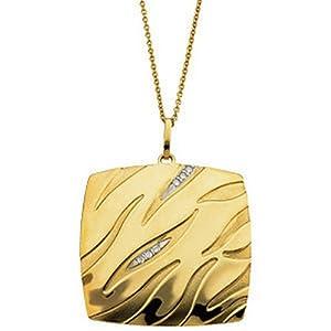 IceCarats Designer Jewelry 14K Yellow Gold .04 Ctw Diamond Necklace