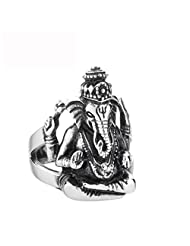New Stainless Steel Ganesha Mens Ring US Size 10