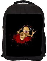 bd6afdf20500 Snoogg Skull ClockDigitally Printed Laptop Backpack Casual School Backpack  For All 15 - 15.6