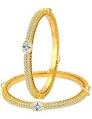 Sukkhi Stylish Gold Plated American Diamond Bangle For Women