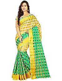 WXW Fashion Women's Velvet Saree With Blouse Piece(WXWAZYC60_Yellow)