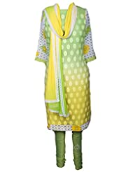 AzraJamil Georgette Printed Traditional Churidar Suit For Women