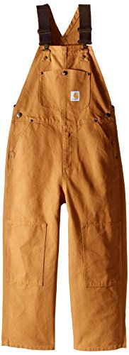 Carhartt Big Boys' Washed Bib Overall,Carhartt Brown,14