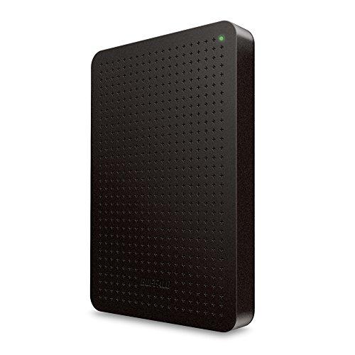 BUFFALO ミニステーション USB3.0対応 レグザ・アクオスほか対応各社TV録画対応 ポータブルHDD 500GB ブラック HD-PCF500U3-B/N