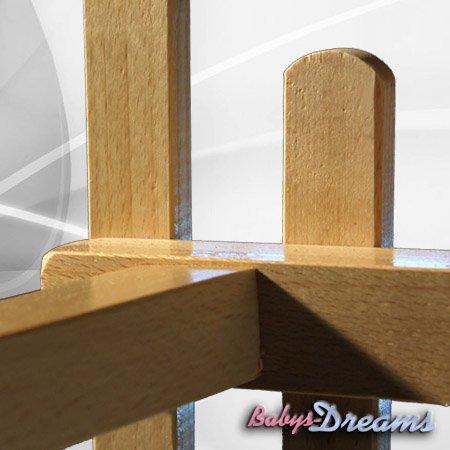 Babys-Dreams Hörnerrodel 120cm & Zugleine Schlitten Holzschlitten Kinderschlitten Hörnerschlitten NEU -