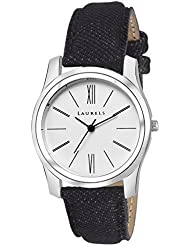 Laurels Orchid Analog White Dail Women Watch ( Lo-Orc-010207 )