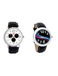 Gledati Men's White Dial And Foster's Women's Black Dial Analog Watch Combo_ADCOMB0001858
