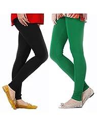 Style Acquainted People Women's Cotton Leggings (Pack Of 2) - B015J88ZLS