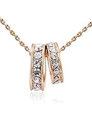 Kaizer Eve 18k Rose Gold Plated With Swiss Zircon Inspired Swarovski Element Pendant For Women/Girls(Valentine...