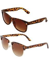 Zyaden COMBO Of Wayfarer Sunglasses & Clubmaster Sunglasses (Combo-58)