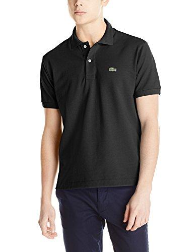 Lacoste Men's Short Sleeve Classic Pique L.12.12 Original Fit Polo Shirt, Black, 6