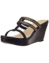 The Trunk Label Women's Janelle Wedge Slippers