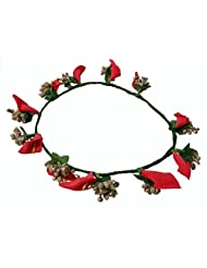 Loops N Knots Tulip Fashion Collection Red And Golden Tiara For Women