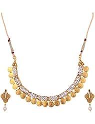 Ketan Jewellers Gold Plated Brass & Metal Choker Necklace Set For Women (KJ-1KJ)