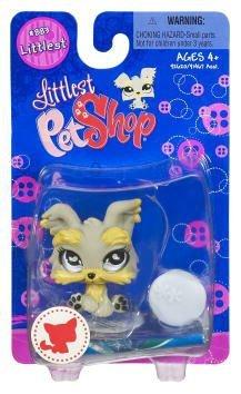 Littlest Pet Shop Littlest Single Figure Yorkie Puppy Dog With Ball