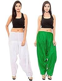 SPK Impact WHITE-GREEN Cotton Patiala Salwar