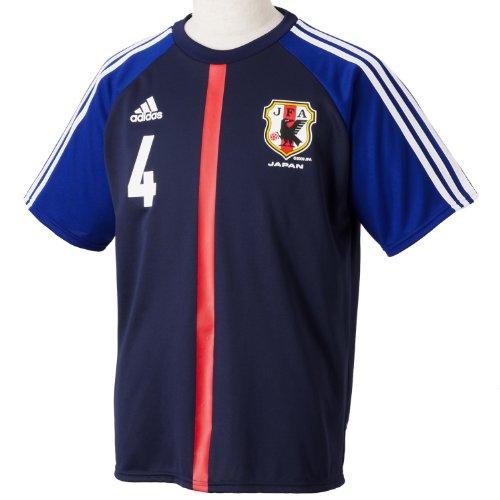 (アディダス)adidas 日本代表ナンバーTシャツ 4 BT441 Z63341 ジャパンディーブルー XO