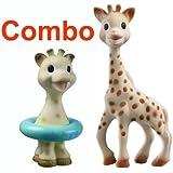 Vulli Sophie The Giraffe Teether Plus Vulli Sophie Giraffe Bath Toy - Comes In A Gift Boxes