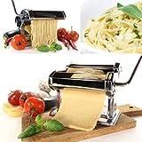 Edle Nudelmaschine Pasta Maker Pastamaschine Edelstahl für 7 Nudelstärken