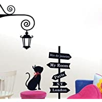 SYGA Beautiful Cat Direction Wall Stickers Decal Design