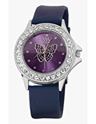 Watch Me Purple Leather Analogue Watch For Women WMAL-094-PR