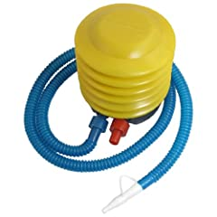 Rosallini Inflatable Toy Balloon Ball Foot Air Pump Inflator Yellow Blue