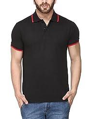 Scott Young Men's Premium Cotton Polo T-shirt - Black