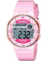 Armitron Sport Women's 45/7049PNK Rose Gold-Tone Accented Digital Chronograph Watch