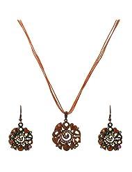 Krishnas Orange Color Necklace Sets For Women-KT066