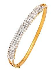 The Jewelbox American Diamond CZ Eternity Festive Openable Kada Bangle Bracelet