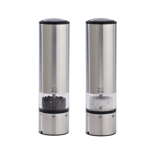 Peugeot Elis Sense Duo Electric Pepper and Salt Mill with Alpha Tray