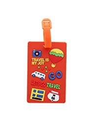 Luggage Tag Travel Bag Tag- Orange - Travel Is My Joy (Pack Of 2)