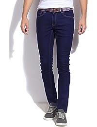 Aeroglide Navy Blue Stretchable Skinny Fit Jeans