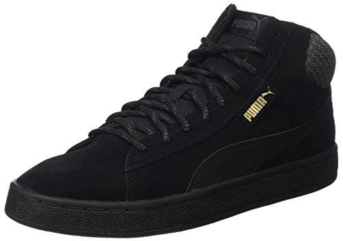 Puma Unisex-Erwachsene 1948 Mid Twill Sneakers, Schwarz (Puma Black-Puma Black 02), 43 EU