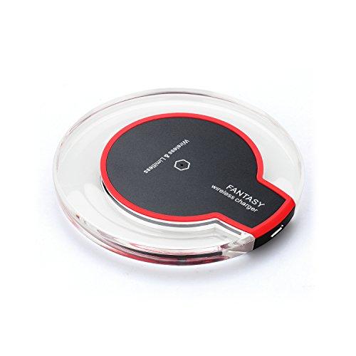 LEVIN ワイヤレスチャージャー 無線充電器 「Qi」規格充電パッド 置くだけ充電 急速充電 軽量 円形