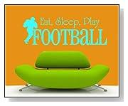 Eat Sleep Play Football Sports Mural