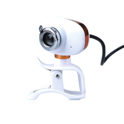 SODIAL R USB 2.0 50.0M HD Webcam Camera Web Cam With MIC For PC Laptop Computer Orange White