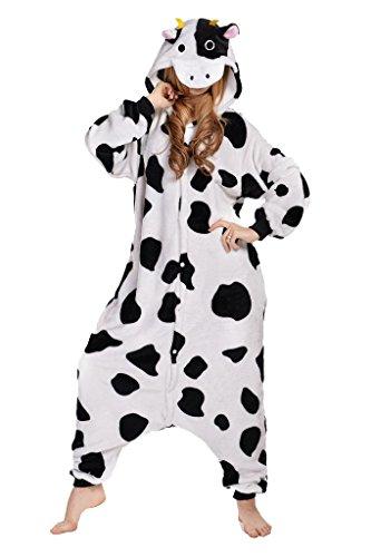 Unisex Cow Pyjamas Kigurumi Halloween Onesie Costume