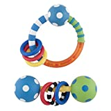 Sassy Ring And Polka Dot Combo Rattle - Blue