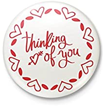 Thinking Of You Badge With Safety-pin Back