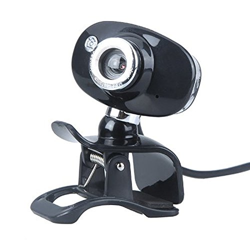 SODIAL R USB 2.0 50.0M HD Webcam Camera Web Cam With MIC For PC Laptop Computer Silver Black