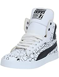 West Code Men's Synthetic Leather Casual Shoes 6073-White-Black