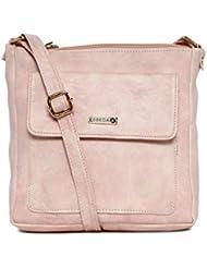 ESBEDA Light Pink Color Solid Slingbag For Women
