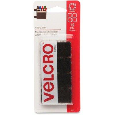 Velcro brand Sticky-Back Squares Black 7/8 Inch