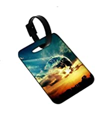 Snoogg New World Luggage Tags Premium Quality Card Tags - Great For Travel