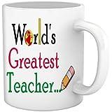 Tied Ribbons Teachers Day|teacher World's Greatest Teacher Printed Coffee Mug(325 Ml, White)