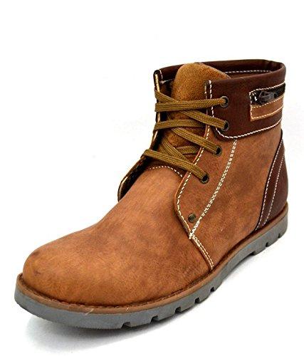 Zoot24 Men's Blue Faux Leather Boots