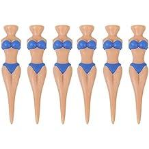 6pcs Novelty Bikini Lady Golf Tees Divot Tools Joke Xmas Gift Stag Party