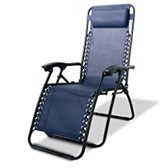 Caravan Canopy Zero Gravity Reclining Chair with Adjustable Headrest Blue